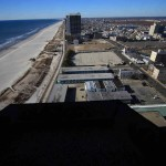 View south from the 23rd floor at the Hilton in Atlantic City, New Jersey.  Ben Wurst