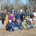 Group photo after 20 platforms were built. Photo by Kathy Clark/ENSP