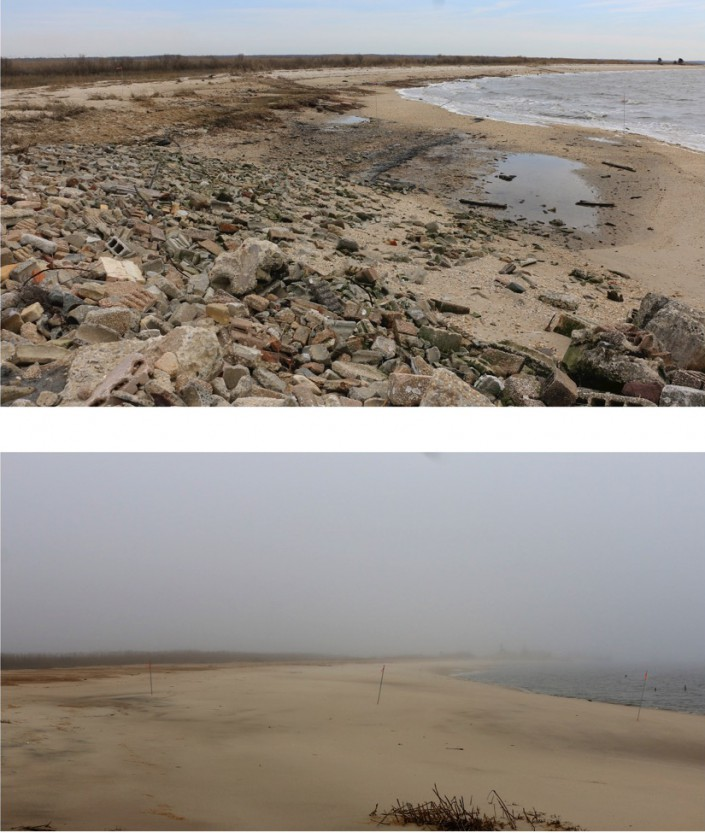 Thompsons Beach Before and After