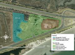 Image of Site map of proposed habitat restoration inside Malibu Beach WMA.