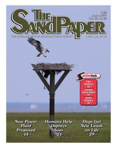 Image of New Jersey Osprey Project in the news! Cover of The Sandpaper, June 8th, 2011.