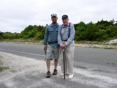 Image of Ben Wurst and Pete McLain (right) at Island Beach State Park in summer of 2012. Pete is responsible for the initial response and recovery of ospreys in New Jersey.