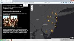 Image of 2014 Annual Report Story Map Screen Capture