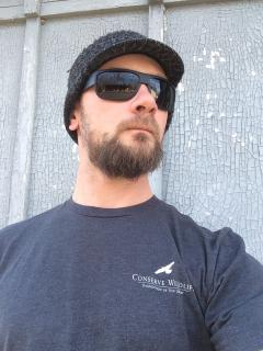 Image of Dark gray men's t-shirt.