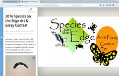 Image of 2016 species on the Edge Story Map