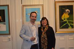 Image of Artist James Fiorentino with CWF Board Member Janice Haggerty.