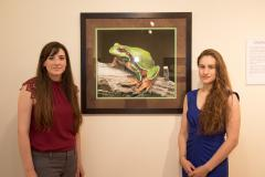 Image of CWF wildlife biologists Allegra Mitchell and Nicole Gerard were in attendance at the reception on May 19 to discuss their work to protect some of New Jersey's rarest wildlife.