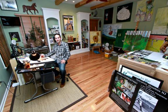 Image of Artist James Fiorentino in his studio.