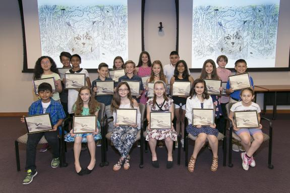 Image of 2017 Species on the Edge Art & Essay Contest winners were honored at a ceremony at New Jersey Education Association Headquarters in Trenton on June 1, 2017.