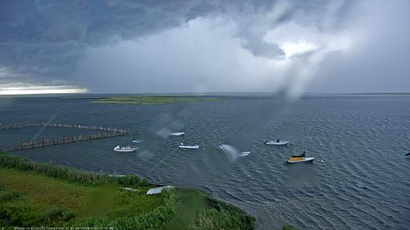 Image of A series of strong thunderstorms with high winds, heavy rain and lightning struck Barnegat Light on August 19. The camera went offline during the second round of storms.
