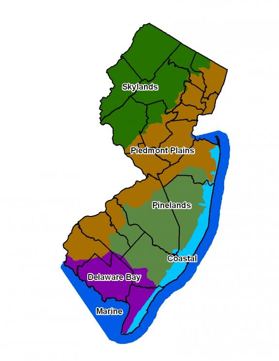 states regions new jersey