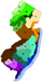 Image of New Jersey Map PNG file